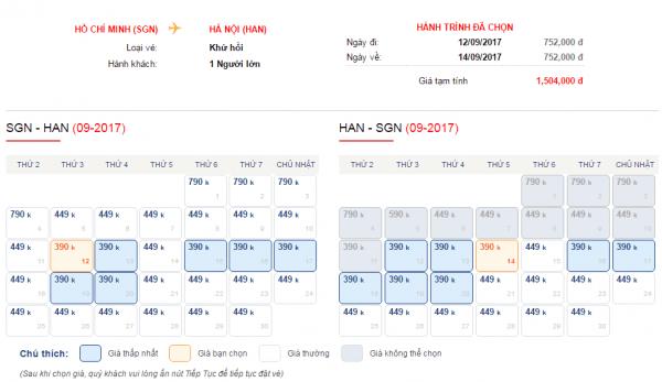 Vé máy bay đi Hà Nội khuyến mãi chỉ từ 390k