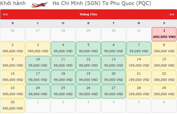 Vietjet khuyến mãi vé máy bay đi Phú Quốc chỉ từ 99k