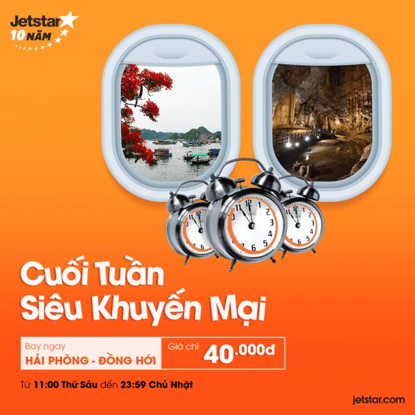 Vé máy bay cuối tuần siêu khuyến mãi giá chỉ từ 40k