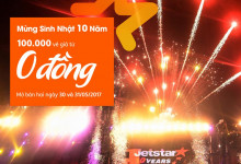 Jetstar mở bán 100k vé máy bay giá rẻ chỉ từ 0 đồng
