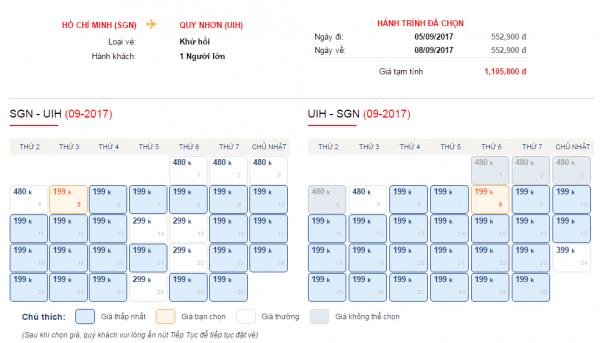 Vé máy bay đi Quy Nhơn chỉ từ 199k