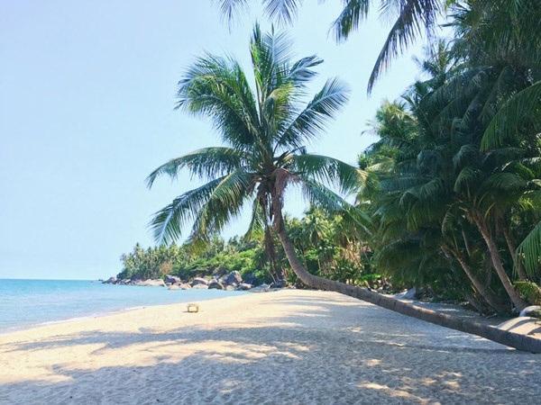 Đảo Hòn Sơn sở hữu bãi tắm sạch sẽ, bãi cát trắng, nước biển xanh rì cùng những hàng dừa bãi đá hoang dại, không gian yên tĩnh và thoải mái thích ...