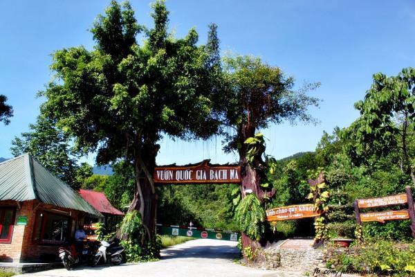 Cổng vườn quốc gia Bạch Mã