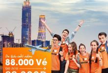 Vé máy bay giá rẻ du lịch cuối năm chỉ từ 88000 đồng