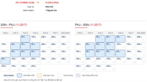 Vé máy bay giá rẻ đi Pleiku chỉ từ 99k