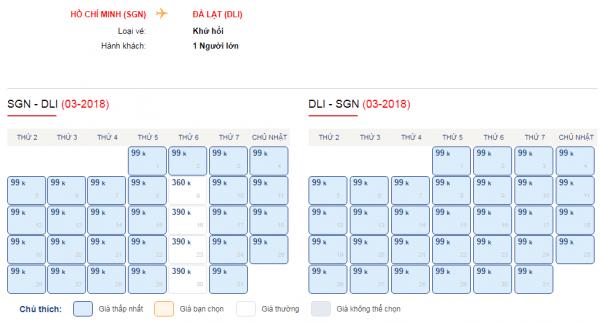 Giá vé máy bay đi Đà Lạt tháng 3 chỉ từ 99k
