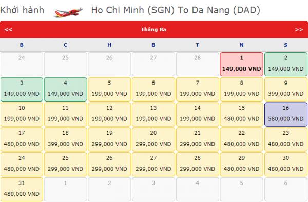 Vé máy bay đi Đà Nẵng tháng 3 chỉ 199k