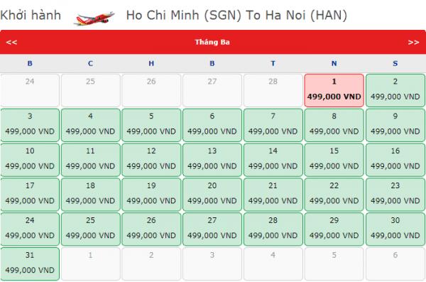 Săn vé máy bay giá rẻ đi Hà Nội chỉ từ 499k