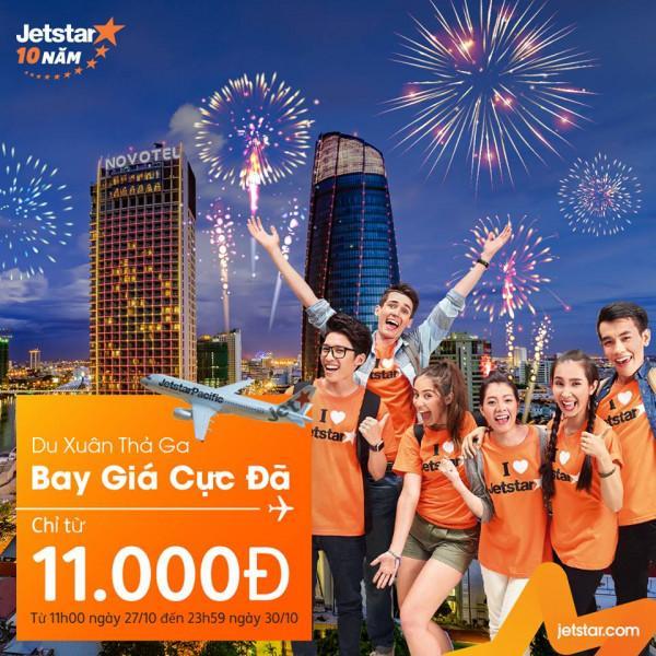 Đặt vé máy bay du xuân cùng Jetstar chỉ từ 11k
