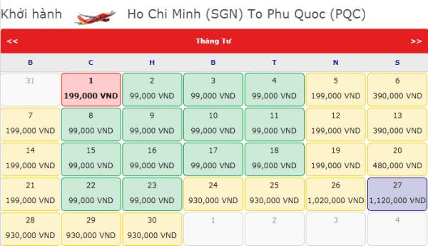 Đặt vé máy bay giá rẻ đi Phú Quốc chỉ với 99k