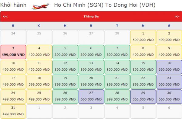 Đặt vé máy bay đi Đồng Hới chỉ từ 399k