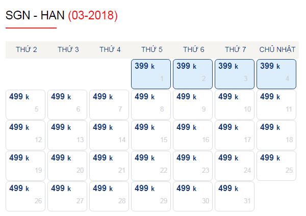 Vé máy bay đi Hà Nội chỉ từ 399k