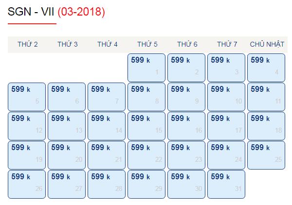 Vé máy bay đi Vinh chỉ từ 599k