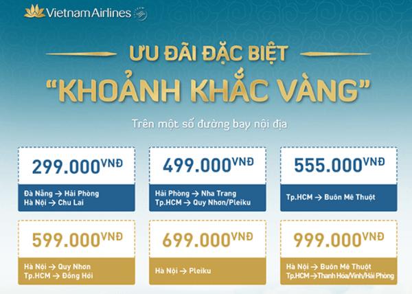 Ưu đãi khoảnh khắc vàng của Vietnam Airlines