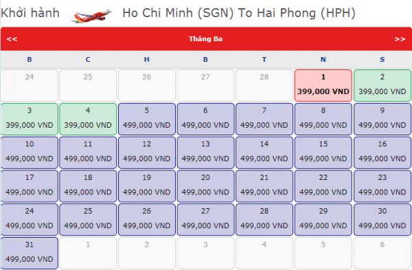 Vé máy bay đi Hải Phòng giá chỉ từ 499k