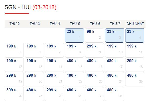 Vé máy bay đi Huế tháng 3 chỉ từ 199k