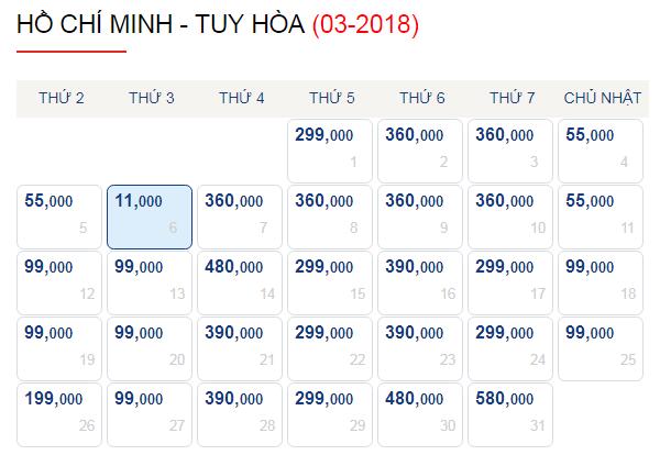 Vé máy bay đi Tuy Hòa giá chỉ từ 90k