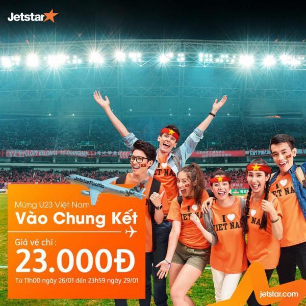 Mừng Việt Nam vào bán kết Jetstar mở bán vé máy bay 23k