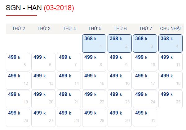 Vé máy bay đi Hà Nội tháng 3 chỉ 499k