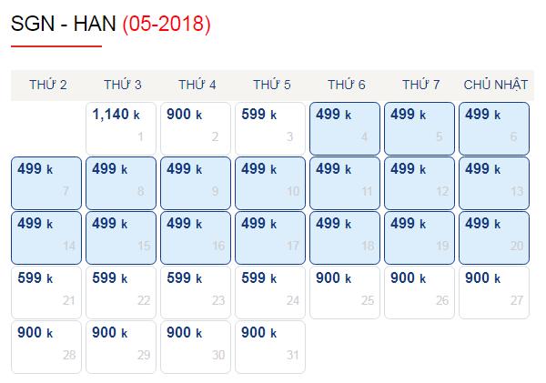 Vé máy bay đi Hà Nội tháng 5 chỉ 499k