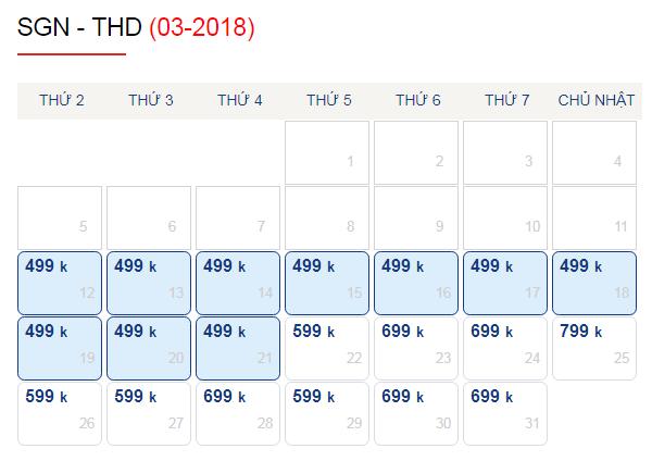 Vé máy bay đi Thanh Hóa tháng 3 chỉ từ 499k