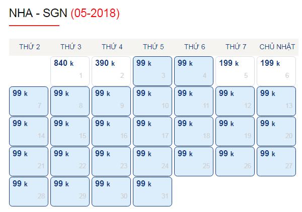 Vé máy bay đi Sài Gòn giá rẻ chỉ từ 99k