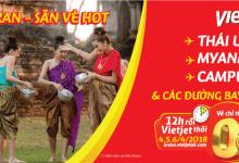 Mừng Tết cổ truyền Songkran cùng Vietjet săn vé hót