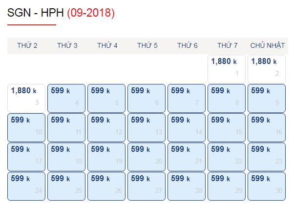 Vé máy bay đi Hải Phòng tháng 9 giá chỉ từ 599k