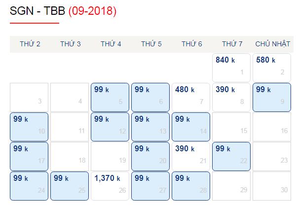Vé máy bay đi Tuy Hòa giá chỉ từ 99k