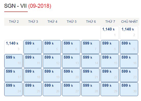 Vé máy bay đi Vinh giá chỉ từ 599k