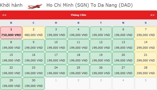 Vé máy bay đi Đà Nẵng giá chỉ từ 199k