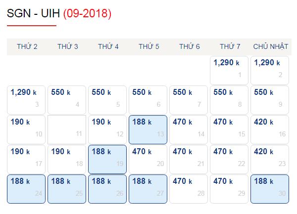Vé máy bay đi Quy Nhơn giá chỉ từ 188k