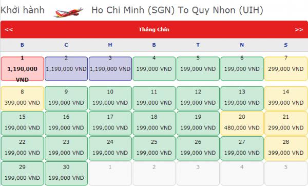 Vé máy bay đi Quy Nhơn tháng 9 giá chỉ từ 199k