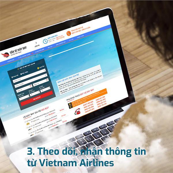 Theo dõi, nhận thông tin khuyến mãi từ Sanvemaybay.vn