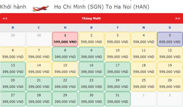 Vé máy bay đi Hà Nội giá chỉ từ 399k