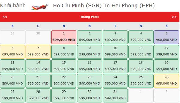 Vé máy bay đi Hải Phòng giá chỉ từ 599k