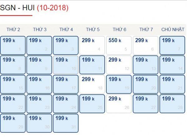 Vé Máy Bay Đi Từ Sài Gòn - Huế Chỉ Với 199k Trong Tháng 10