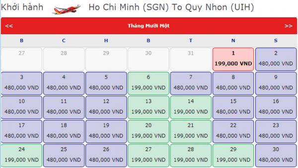 Vé máy bay đi Quy Nhơn giá chỉ từ 199k