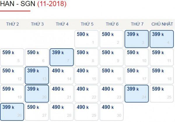 Hà Nội Đến Sài Gòn Chỉ Với 399k Trong Tháng 11