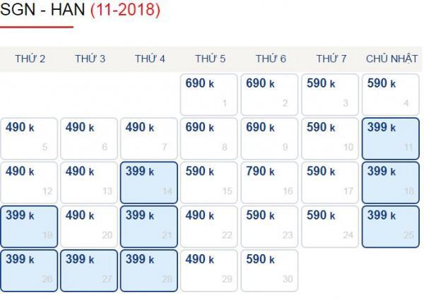 Hành Trình Sài Gòn - Hà Nôi Chỉ Với 399k Trong Tháng 10