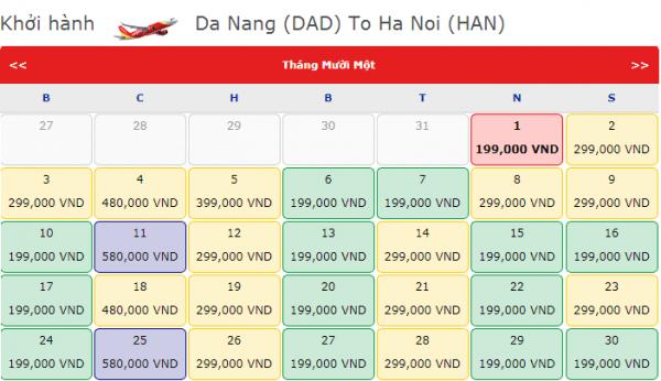Vé máy bay đi Hà Nội chỉ từ 199k