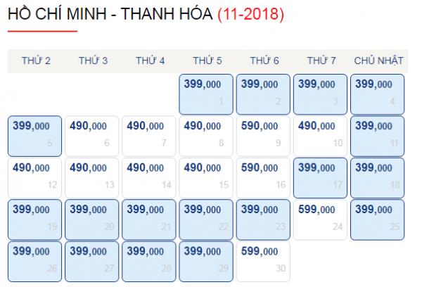 Vé máy bay đi Thanh Hóa giá chỉ từ 399k