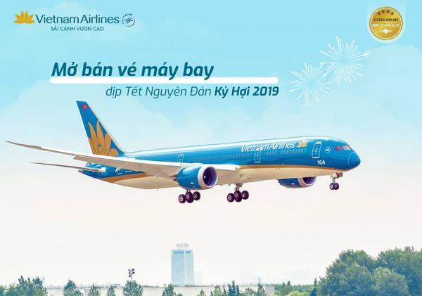 Vietnam Airlines mở bán vé máy bay tết 2019