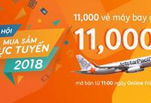 Online Day, Jetstar mở bán 11000 vé máy bay chỉ từ 11k