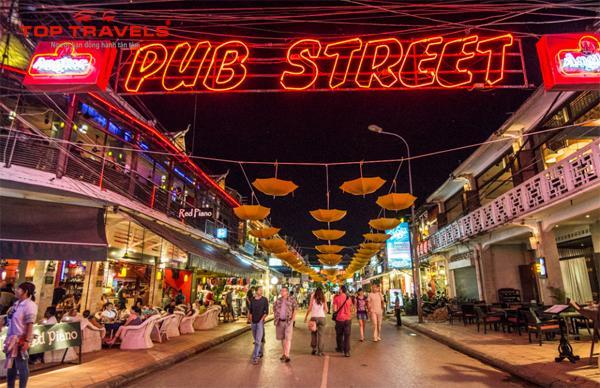 Khu phố Tây Pub Street campuchia