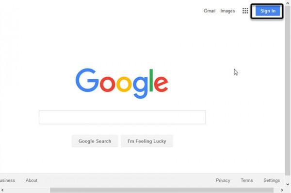Đăng nhập vào màn hình Tìm kiếm của Google.