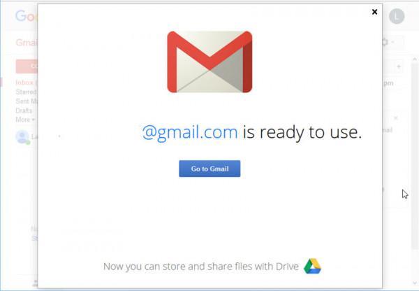 Nhấp vào Go to Gmail.