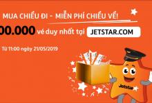"""Jetstar mở bán """"Mua vé chiều đi miễn phí chiều về"""""""