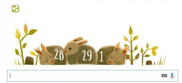 Biểu tượng google thay đổi ngày, tháng, năm nhuận