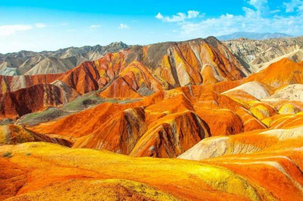 Vùng địa chất núi Zhangye Danxia5